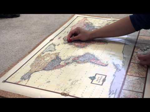 DIY PIN YOUR TRAVEL MAP