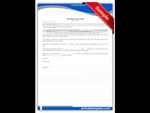 Free printable Job Offer Cover Letter Forms