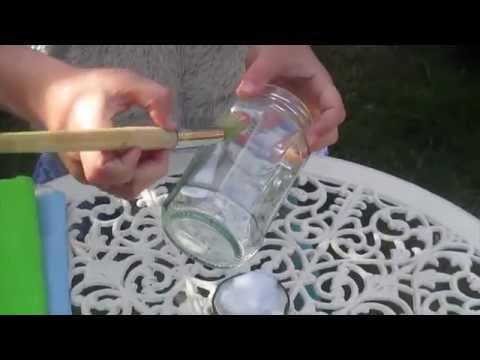 DIY Stained Glass Effect Tea Light Holder