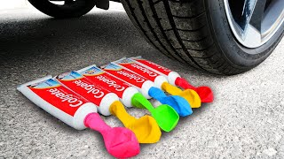 Crushing Crunchy & Soft Things by Car! EXPERIMENT: Car vs Balloons Toothpaste, Fanta & Toys