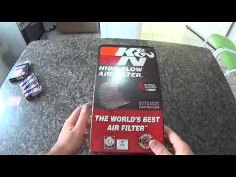 Unboxing filtro de ar K&N e NGK iridium p/ Hornet