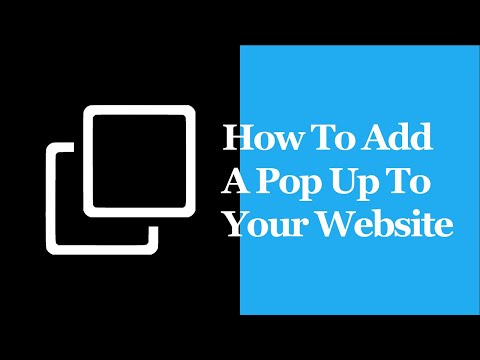 How To Add A Pop Up To Your Website