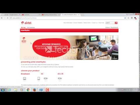 How to check Airtel broadband data
