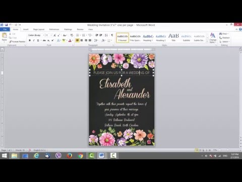 Wedding Invitation Template for MS Word