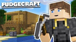 Download BUILDING MY STARTER HOUSE - Fudgecraft Survival #1 (Minecraft) Video