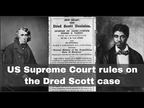 6th March 1857: The US Supreme Court's ruling in the Dred Scott case