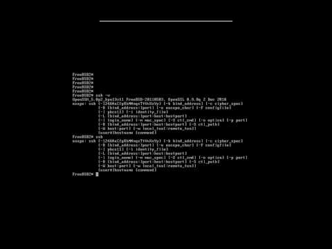 How to show which version of OpenSSH your running in FreeBSD. by Nicholas Lee Fagan