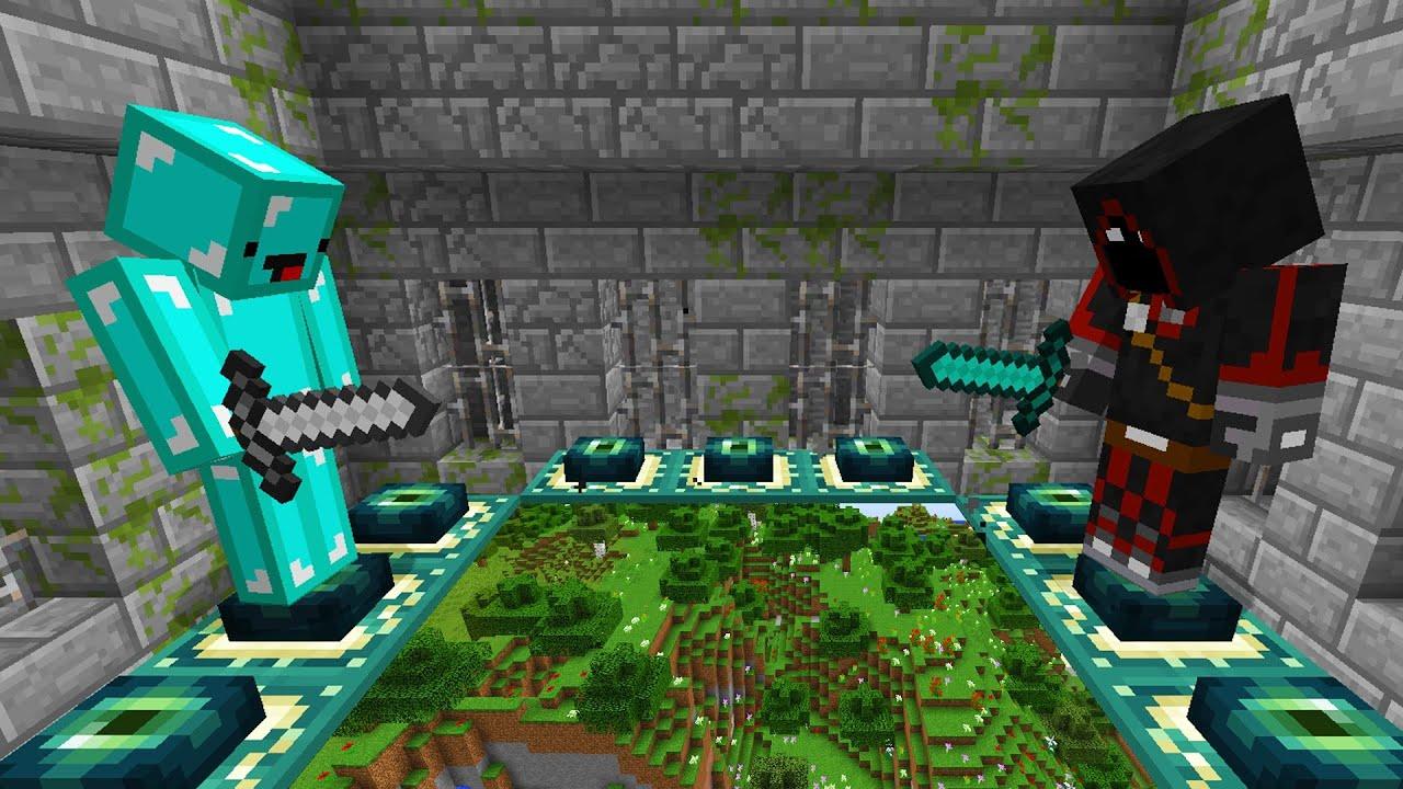 Race To Beat Minecraft: Skeppy VS BadBoyHalo