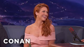 """Brittany Snow Shattered Her Rib On The Set Of """"Bushwick""""  - CONAN on TBS"""