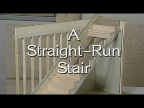 Learn how to build wood stairs: A straight run stairs