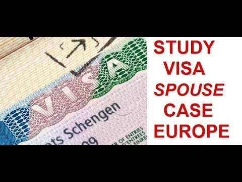 Spouse visa for students for Schengen countries. Work allowed in which countries.