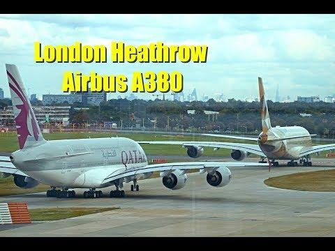 Qatar Qantas Etihad British Airways Airbus A380 @ London Heathrow Airport