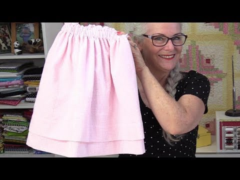 One Yard, Girls Skirt with a Double Hem