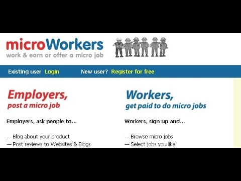 HOW TO make money from Microworker (part 1)