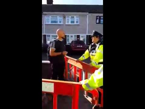 Cllr. John Lyons arrested while peacefully protesting against water meter instalation.
