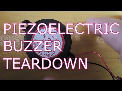 Piezoelectric Buzzer Teardown
