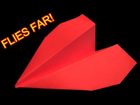 How To Make A Paper Airplane That Flies Very Far-BEST paper planes in the world