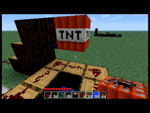 Minecraft: How to Make a TNT Cannon With a Custom Speed
