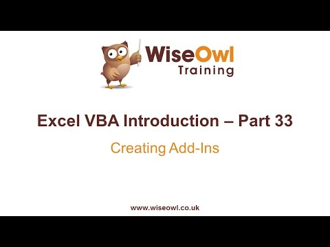 Excel VBA Introduction Part 33 - Creating Add Ins
