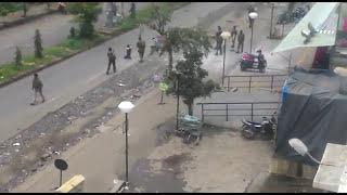 Kharghar  D Mart terrorist attack live video.                            Mock drill only