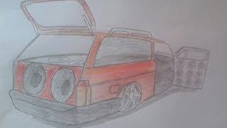 Desenho De Carros Rebaixados Com Som