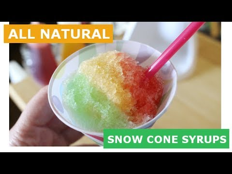 NO JELLO Organic Snow Cone Syrup Recipes