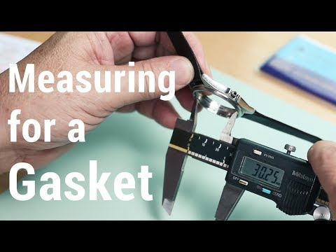 How to Measure for a Crystal Gasket for a Round Bezel