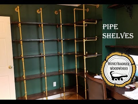 Woodworking : DIY Corner Pipe Shelves // How-To Part 2