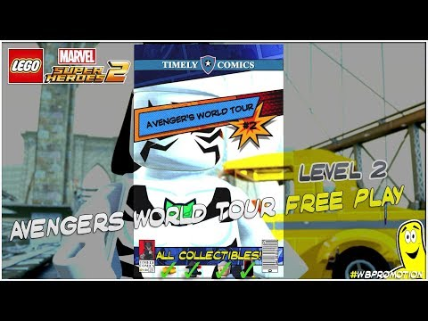 Lego Marvel Superheroes 2: Lvl 2 / Avengers World Tour FREE PLAY (All Collectibles) - HTG