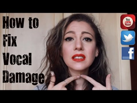 How to fix Vocal Damage - Singing Tip # 16