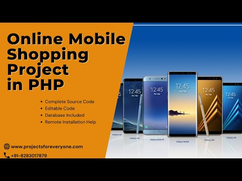 Online Mobile Shopping Website Project in PHP with MySql