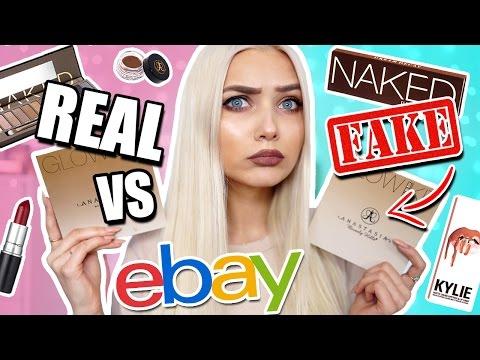 TESTING REAL VS FAKE EBAY MAKEUP BOUGHT UNDER £10! 😱