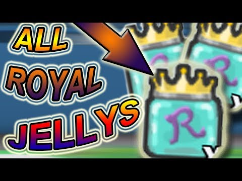 ALL ROYAL JELLY LOCATIONS!!!! - Roblox Bee swarm simulator