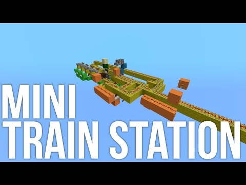 Minecraft: Mini Train Station Redstone Tutorial
