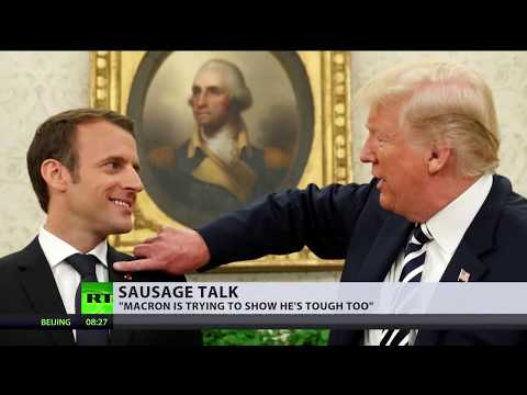 'If you tell people how sausage is made': Macron ducks question on 'strained' phone call with Trump