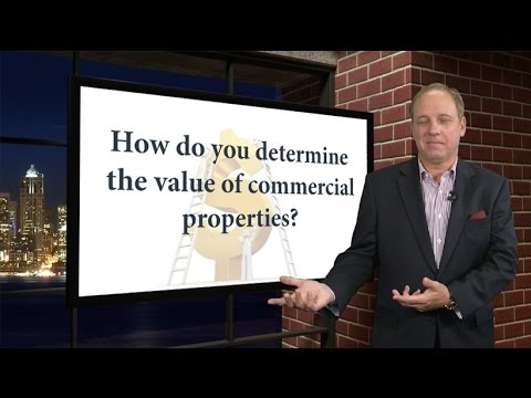 How do you determine the value of commercial properties?