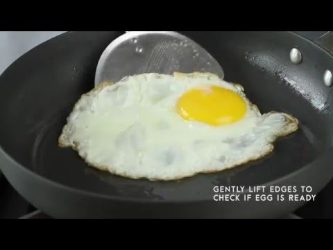 SUPER B Hard Anodized Cookware - How to Fry Eggs Without Sticking