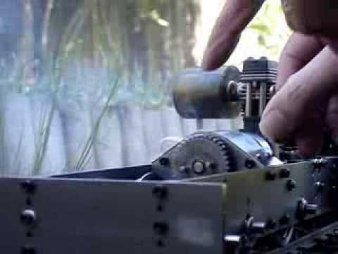 1/12th scale, 45mm gauge, Live Diesel - Testing the new clutch and primary gearbox