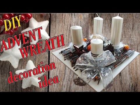 DIY - How to decorate advent wreath