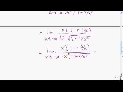 Limits as x goes to infinity