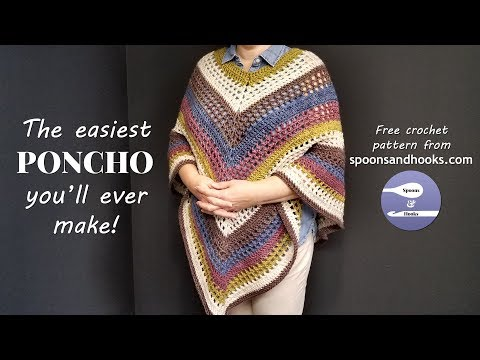 The easiest poncho you'll ever make (free crochet pattern)