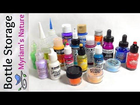 44]  LOW-COST Organizing - Alcohol Inks, Acrylics, etc. - DOLLAR TREE Haul - Fluid Art Supplies