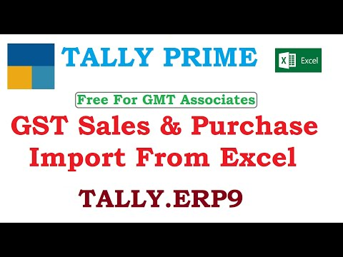GST Sales & Purchase Import From Excel