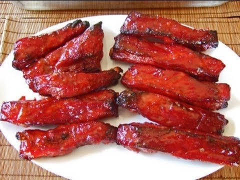 HOW-TO: Chinese RED RIBS restaurant recipe authentic best #tasty foods #CHINESERESTAURANT SPARE RIBS