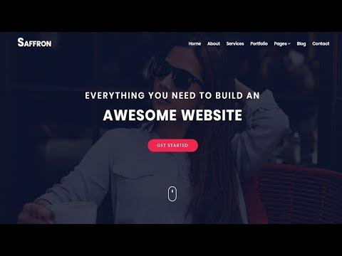 Saffron - Multi-Purpose HTML Template | Bootstrap template