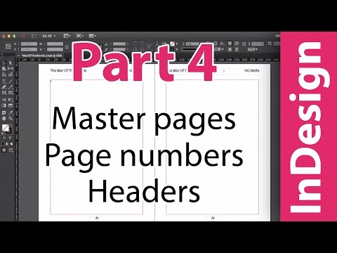 InDesign training: Master pages, auto page numbering and headers. Putting A Book Together PART 4