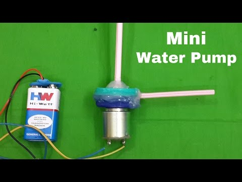 How to Make a Mini Electric Water Pump at Home