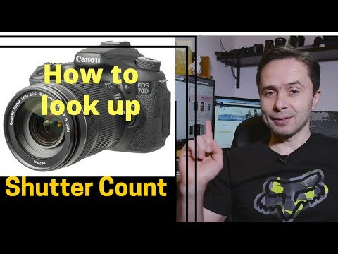 How to look up shutter actuation count on used Canon DSLR camera.