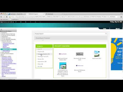 How to download Windows from Concordia MSDN