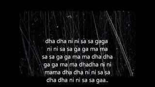 Mere dholna-Full lyric(sargam)+english translation.shreya\u0026m.g. sreekumar.
